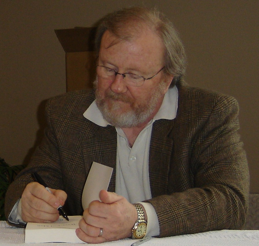 Obie Holmen at a book signing